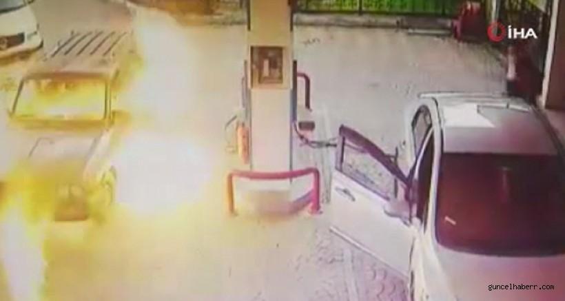 Benzinlikte korkutan yangın!