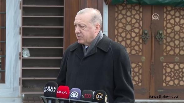Cumhurbaşkanı Erdoğan'dan cuma çıkışı önemli açıklamalar