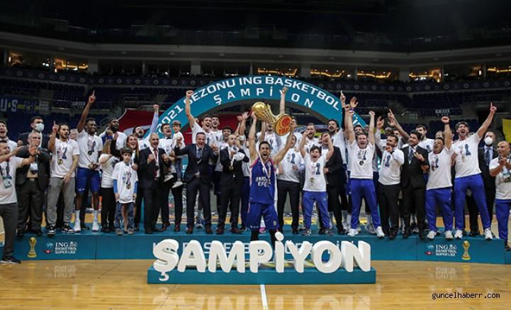 ING Basketbol Süper Ligi'nde şampiyon Anadolu Efes