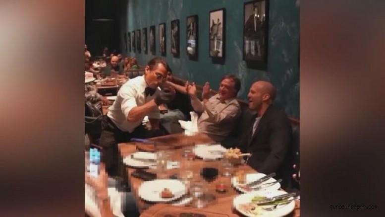 Nusret Gökçe Jason Statham'a tuz serptirdi