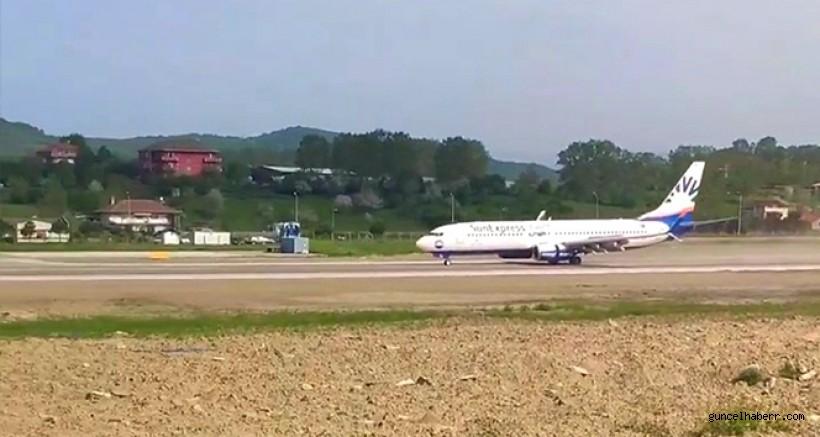 Zonguldak Havaalanı'nın ilk yolcu uçağı Almanya'ya uçtu